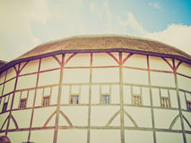 Retro look Globe Theatre, London. Vintage looking The ancient Shakespeare Globe Theatre in London, UK Royalty Free Stock Photography