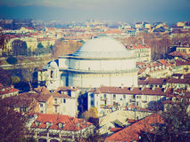 Retro look Gran Madre church, Turin Royalty Free Stock Photo