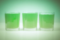 Retro look Green apple juice Royalty Free Stock Photos