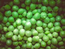 Retro look Green peas Royalty Free Stock Image