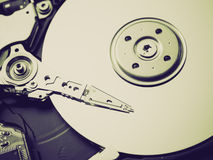 Retro look Hard disk Royalty Free Stock Images