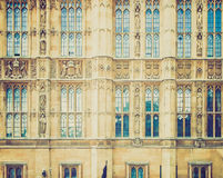 Retro look Houses of Parliament Stock Images