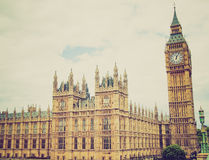 Retro look Houses of Parliament Stock Image