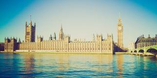 Retro look Houses of Parliament Stock Photos