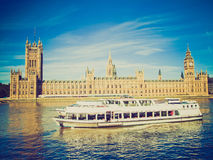 Retro look Houses of Parliament Royalty Free Stock Photos
