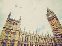 Retro look Houses of Parliament Royalty Free Stock Photography