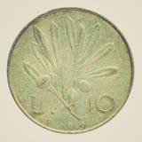Retro look Italian coin Stock Photography