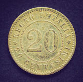 Retro look Italian coin Royalty Free Stock Photography