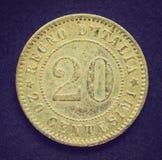 Retro look Italian coin Royalty Free Stock Photography