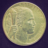 Retro look Italian coin Royalty Free Stock Images