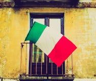 Retro look Italian flag Stock Photography