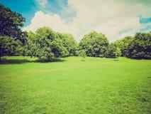 Retro look Kensington gardens, London Stock Photo