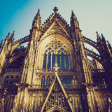 Retro look Koeln Dom. Vintage looking Koelner Dom (Cologne Cathedral) in Koelne, Germany Stock Photos