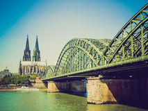 Retro look Koeln panorama Stock Images