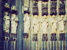 Retro look Koelner Dom Royalty Free Stock Image