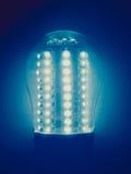 Retro look LED Light Bulb. Vintage looking A lit LED Light Emitting Diod bulb Royalty Free Stock Image