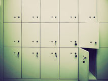 Retro look Lockers picture Royalty Free Stock Images