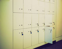 Retro look Lockers Royalty Free Stock Photos