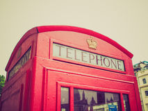 Retro look London telephone box Royalty Free Stock Images