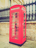Retro look London telephone box Royalty Free Stock Photo