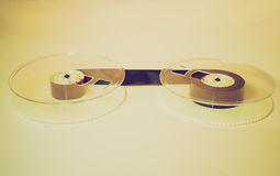 Retro look Magnetic tape reel Royalty Free Stock Photo