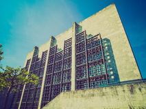 Retro look Mainz City Hall. Vintage looking Mainzer Rathaus city hall in Mainz, Germany Royalty Free Stock Photography
