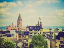 Retro look Mainz Germany Stock Photography