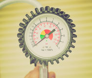 Retro look Manometer instrument Royalty Free Stock Image