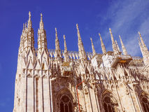 Retro look Milan Cathedral Royalty Free Stock Photos