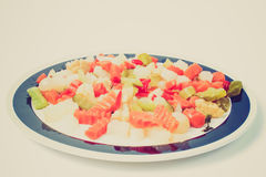 Retro look Mixed vegetables Stock Images