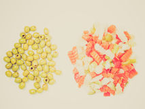 Retro look Mixed vegetables Royalty Free Stock Photography