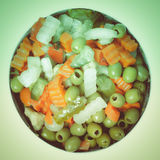 Retro look Mixed vegetables Stock Photography