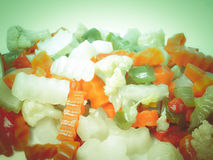Retro look Mixed vegetables Stock Photo