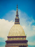 Retro look Mole Antonelliana, Turin Royalty Free Stock Photos