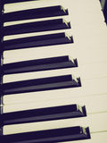 Retro look Music keyboard Stock Photo