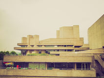 Retro look National Theatre London Royalty Free Stock Photos