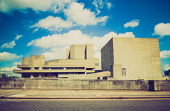 Retro look National Theatre London Stock Photo