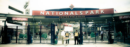 Retro look at Nationals Park Washington, DC. Stock Photo