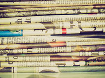 Retro look Newspapers Royalty Free Stock Photos