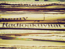 Retro look Newspapers Royalty Free Stock Photography