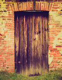 Retro look Old door Stock Images