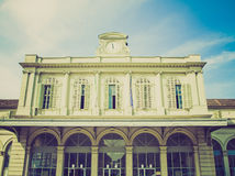 Retro look Old station, Turin Royalty Free Stock Images