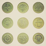 Retro look One Pound coin Stock Images