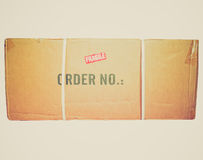 Retro look Packet parcel isolated Stock Images