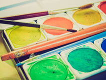 Retro look Painting tools Stock Images