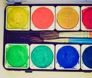 Retro look Painting tools Stock Image