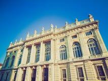 Retro look Palazzo Madama, Turin Royalty Free Stock Photography