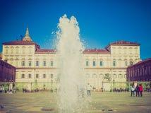 Retro look Palazzo Reale Turin Stock Image