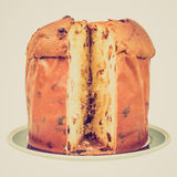 Retro look Panettone bread Royalty Free Stock Image