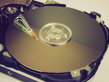 Retro look PC hard disk Royalty Free Stock Photos